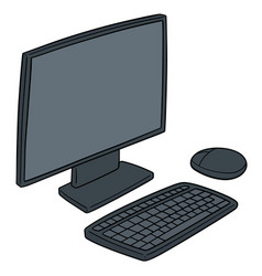 Set monitor keyboard and mouse vector