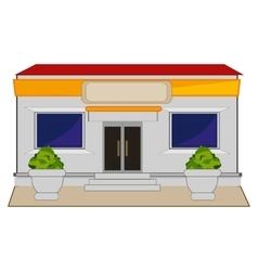 Shop on street vector