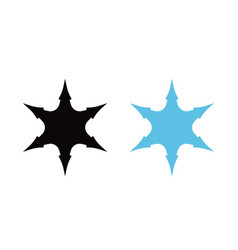 silhouettes of snowflakes in blue and black vector image