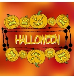 Stock card template for Halloween party vector