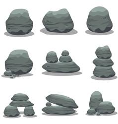 Stone style element set art vector