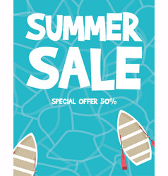 summer holiday sale morning party vector image