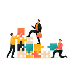 Team entrepreneurs leads to success flat 2d vector