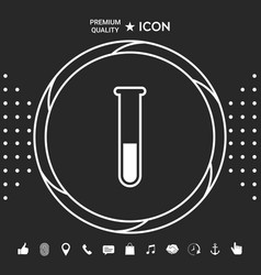test-tube icon symbol graphic elements for your vector image