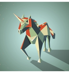 Three dimensional magic origami unicorn from vector image