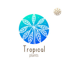tropical floral herb vector image