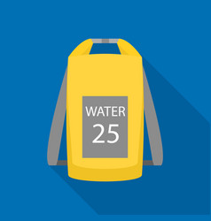 Water backpack icon flat style vector