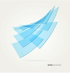 wave rectangles vector image