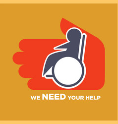 We need your help poster to help for disable vector