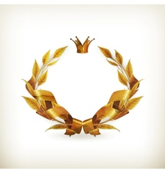 wreath gold old-style vector image