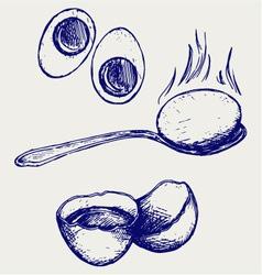 Boiled egg breakfast vector image vector image