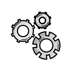 grayscale gear industry engineering process vector image