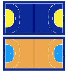 Handball court isolated vector