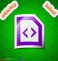 Script icon sign Symbol chic colored sticky label vector image vector image