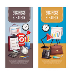 business office 2 vertical banners vector image vector image