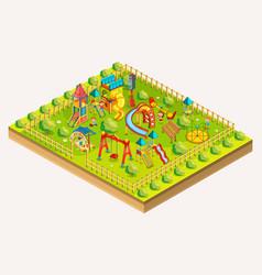 children playground isometric vector image