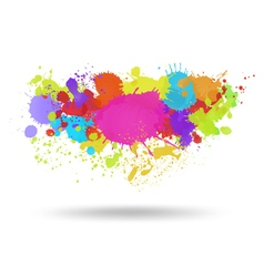 Multi color blots background vector image