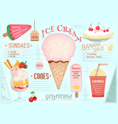 placemat ice cream vector image