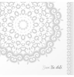 Silver wedding invitation template vector image vector image