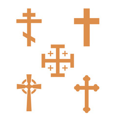 christianity church cross religion vector image