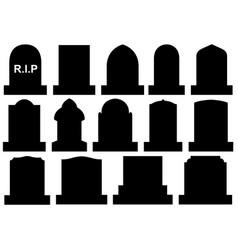 different halloween gravestones vector image