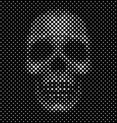 Halftone dot skull background vector image vector image