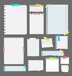 realistic paper set vector image