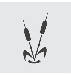 Reed icon vector image vector image