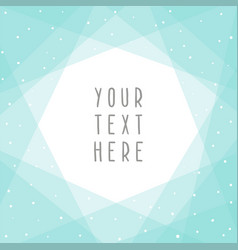 beautiful blue abstract card template vector image