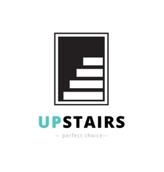 negative space stairs logo Brand sign vector image vector image
