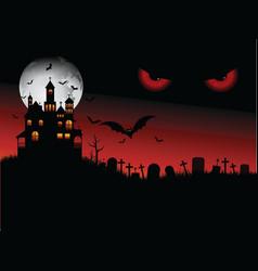 Spooky halloween scene vector