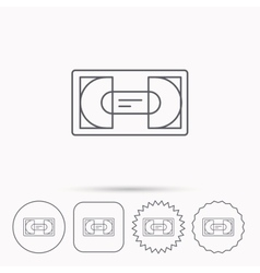 Video cassette icon VHS tape sign vector image