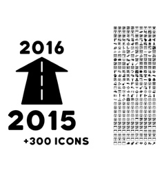 2016 Future Road Icon vector image vector image
