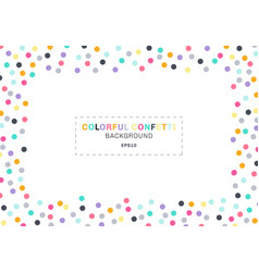 Abstract colorful confetti rectangle frame on vector