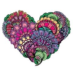 Abstract flower heart 2 380 vector