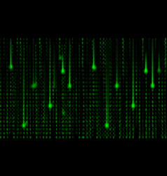 Abstract matrix background green and black colors vector