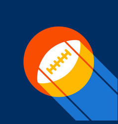 american simple football ball white icon vector image