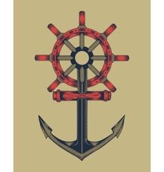 Anchor with handwheel vector
