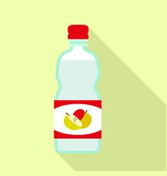 Apple vinegar mix icon flat style vector