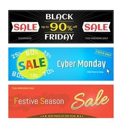 Banner label badge Black Friday Cyber Monday vector