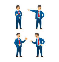 Boss professional workers emotions isolated set vector
