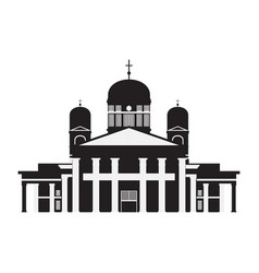 building of finland country travel icon landmark vector image
