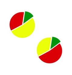 bulk of diagram icons for finance info vector image