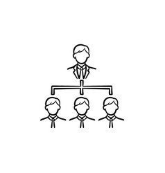 business meeting hand drawn sketch icon vector image