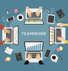 Business teamwork business coworkers business vector