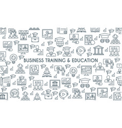 Business training banner vector