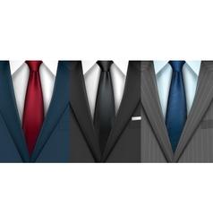 Businessman suit set vector image
