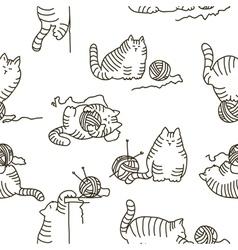 Cats seamless texture vector
