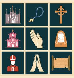 Christianity religion religionism flat vector