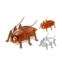 Cockroach Cartoon Character vector